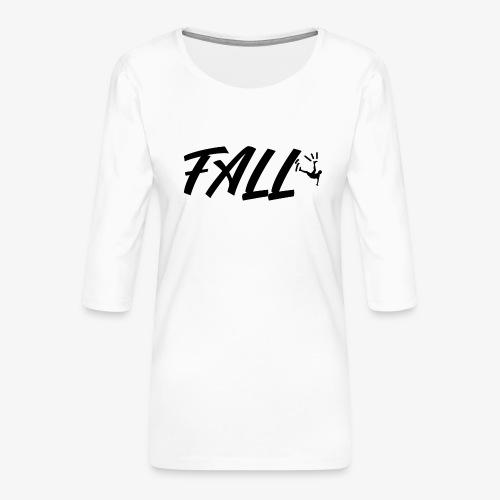 fall design - T-shirt Premium manches 3/4 Femme