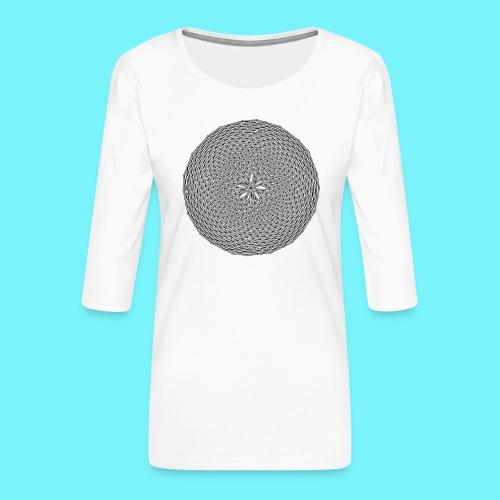 Fibonacci web with spirals - Women's Premium 3/4-Sleeve T-Shirt