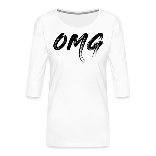 OMG, musta - Naisten premium 3/4-hihainen paita