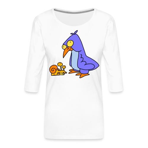 Schnecke und Vogel Nr 2 von dodocomics - Frauen Premium 3/4-Arm Shirt