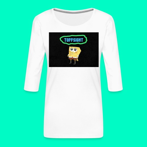 Topsight - Premium-T-shirt med 3/4-ärm dam
