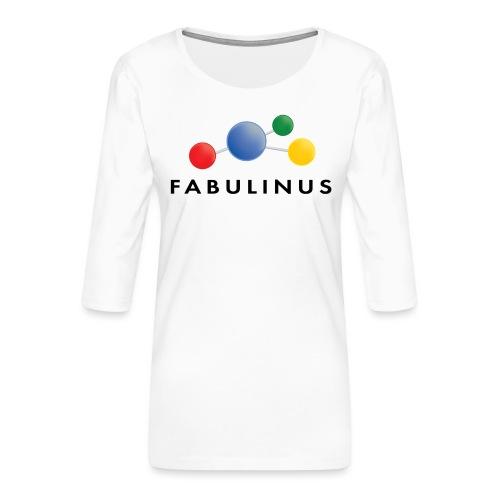 Fabulinus logo dubbelzijdig - Vrouwen premium shirt 3/4-mouw
