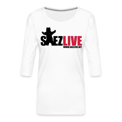 OursLive (version dark) - T-shirt Premium manches 3/4 Femme