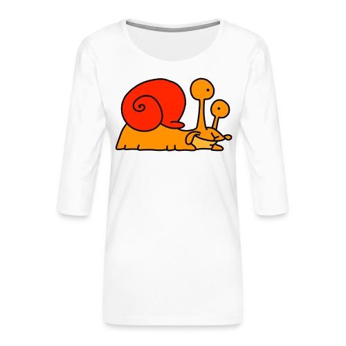 Schnecke Nr 97 von dodocomics - Frauen Premium 3/4-Arm Shirt
