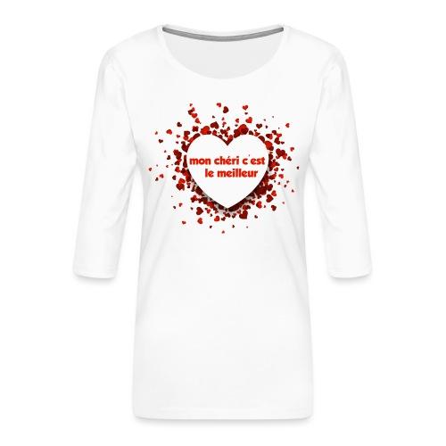 Mon cherie tasse - T-shirt Premium manches 3/4 Femme
