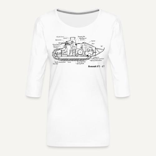 ft17 - Koszulka damska Premium z rękawem 3/4