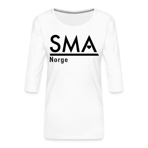 SMA Norge logo - Premium T-skjorte med 3/4 erme for kvinner