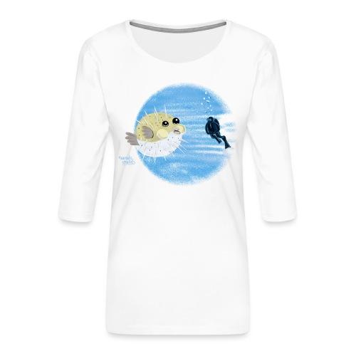 Puffer fish - T-shirts - T-shirt Premium manches 3/4 Femme