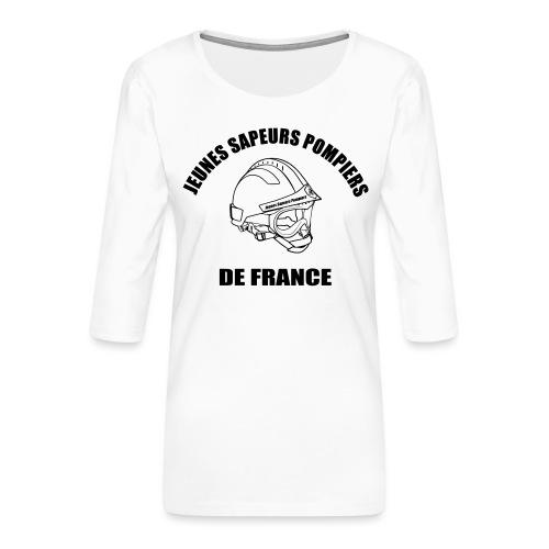 Jeunes Sapeurs Pompiers de France - T-shirt Premium manches 3/4 Femme
