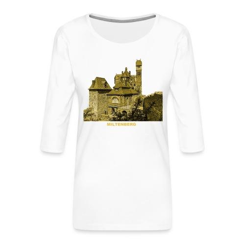 Miltenberg Burg Museum Franken Main Bayern - Frauen Premium 3/4-Arm Shirt