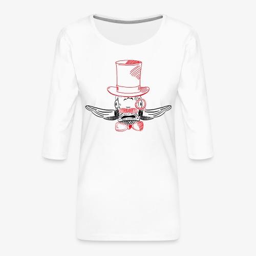 Elegant Hipster Fish - Mustache - Frauen Premium 3/4-Arm Shirt