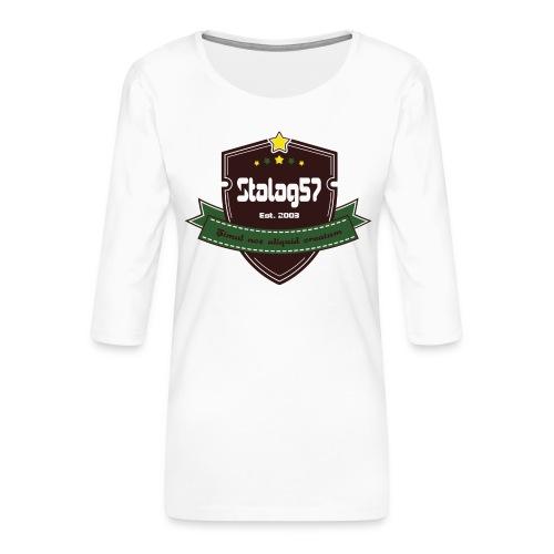 logo - T-shirt Premium manches 3/4 Femme