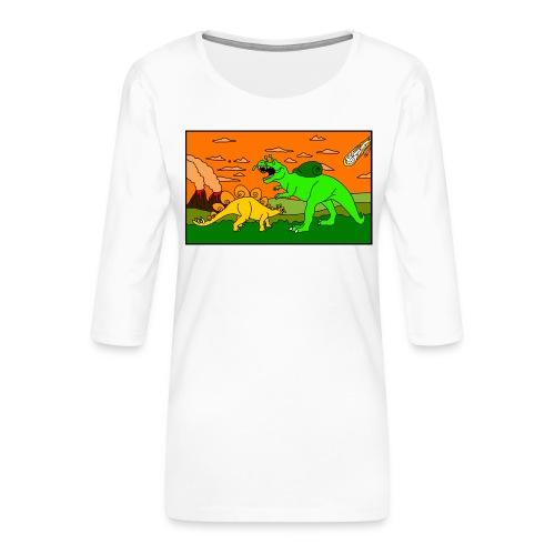 Schneckosaurier von dodocomics - Frauen Premium 3/4-Arm Shirt