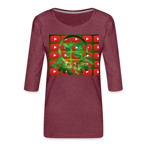 YZ-Muismatjee - Vrouwen premium shirt 3/4-mouw