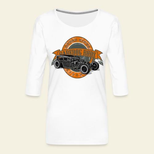 Raredog Rods Logo - Dame Premium shirt med 3/4-ærmer
