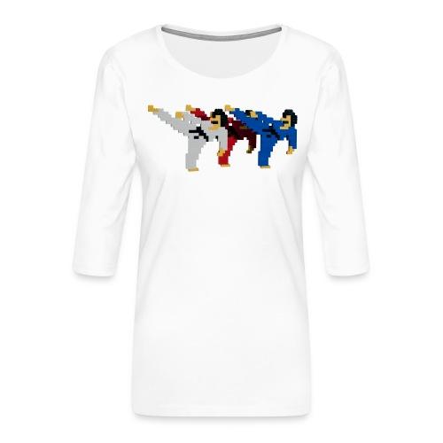 8 bit trip ninjas 2 - Women's Premium 3/4-Sleeve T-Shirt
