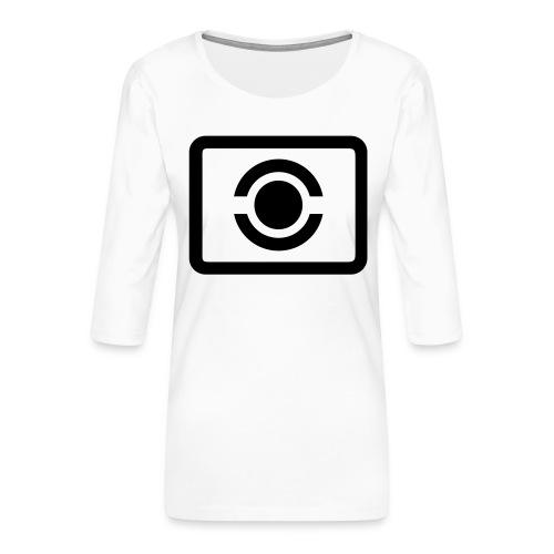 Mehrfeldmessung - Frauen Premium 3/4-Arm Shirt