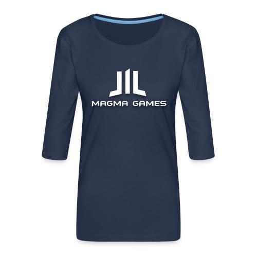 Magma Games t-shirt grijs - Vrouwen premium shirt 3/4-mouw