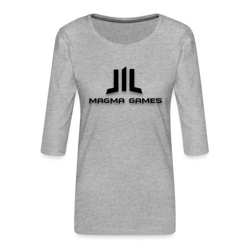 Magma Games kussen - Vrouwen premium shirt 3/4-mouw