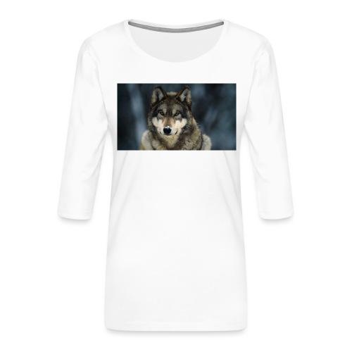 wolf shirt kids - Vrouwen premium shirt 3/4-mouw