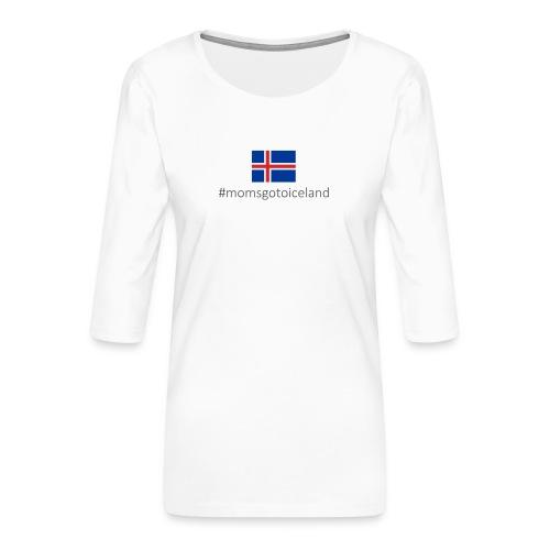 Iceland - Women's Premium 3/4-Sleeve T-Shirt