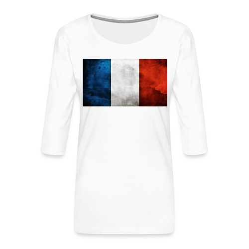 France Flag - Women's Premium 3/4-Sleeve T-Shirt