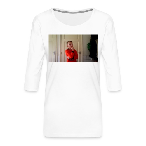 generation hoedie kids - Vrouwen premium shirt 3/4-mouw