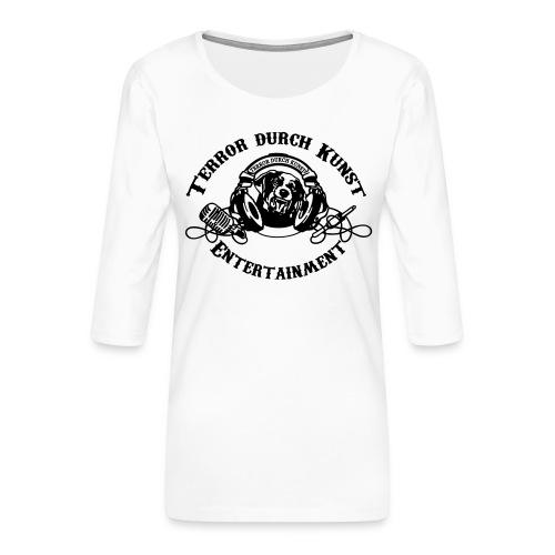 tdklogoschwarz 3 - Frauen Premium 3/4-Arm Shirt