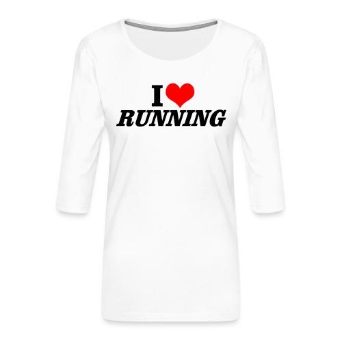 I love running - Frauen Premium 3/4-Arm Shirt