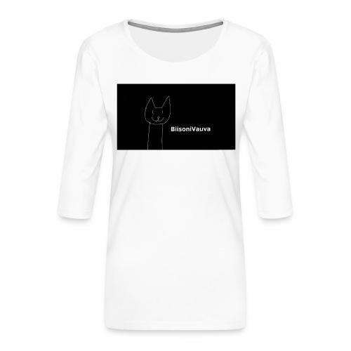 biisonivauva - Naisten premium 3/4-hihainen paita