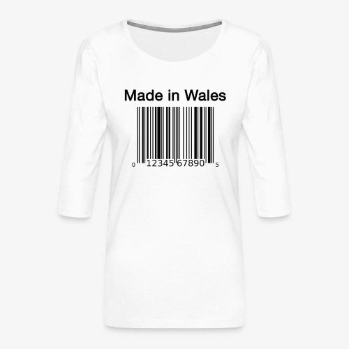Made in Wales - Women's Premium 3/4-Sleeve T-Shirt