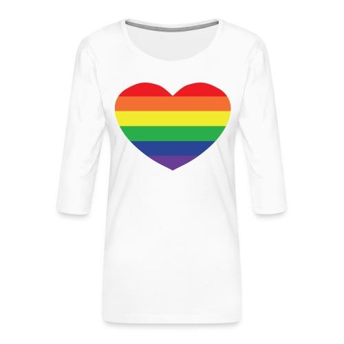 Rainbow heart - Women's Premium 3/4-Sleeve T-Shirt