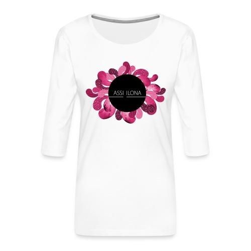 Miesten t-paita punainen logo - Naisten premium 3/4-hihainen paita