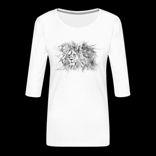 Le roi le seigneur des animaux sauvages - T-shirt Premium manches 3/4 Femme