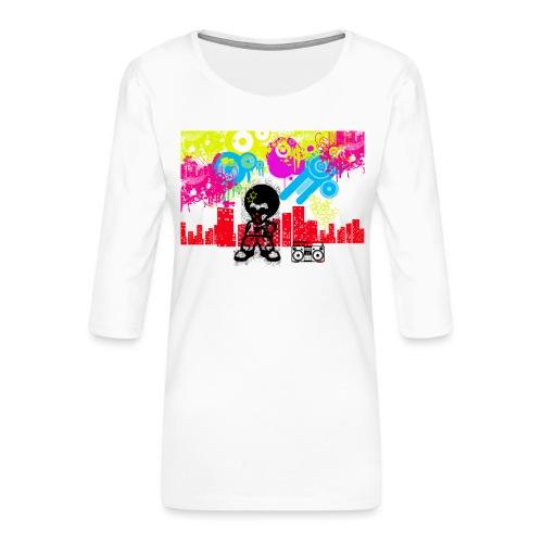 Borse personalizzate con foto Dancefloor - Maglietta da donna premium con manica a 3/4