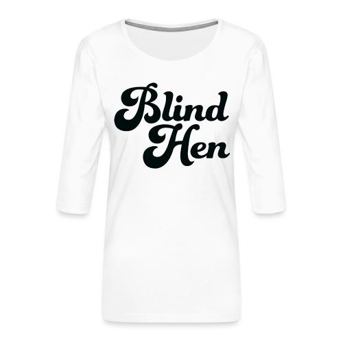 Blind Hen - Logo T-shirt premium, green. - Women's Premium 3/4-Sleeve T-Shirt