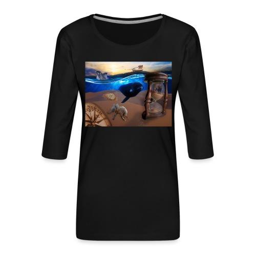 Wodne Przemyślenia - Koszulka damska Premium z rękawem 3/4