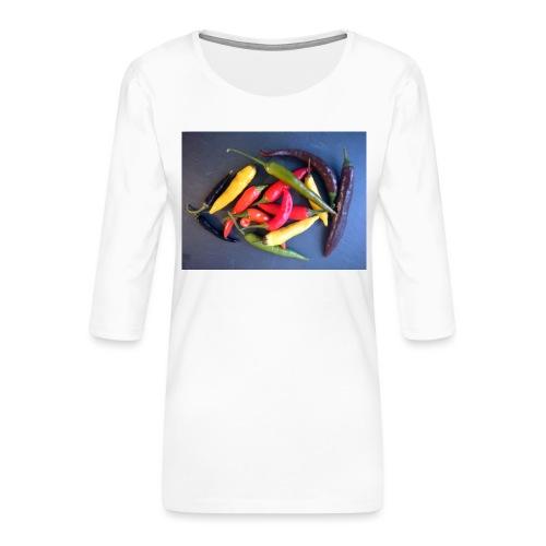 Chili bunt - Frauen Premium 3/4-Arm Shirt