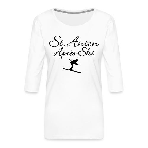 St. Anton Après-Ski Skifahrer - Frauen Premium 3/4-Arm Shirt