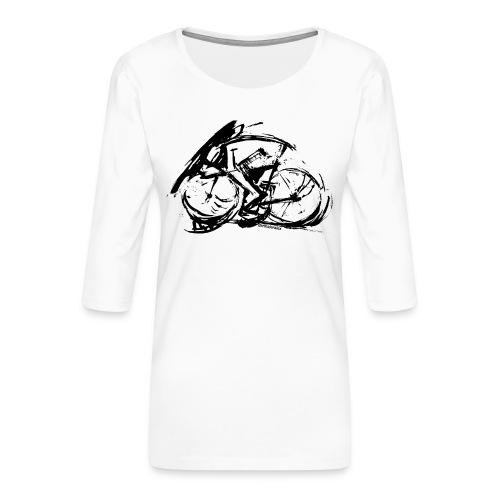 futuristischer radfahrer - Frauen Premium 3/4-Arm Shirt
