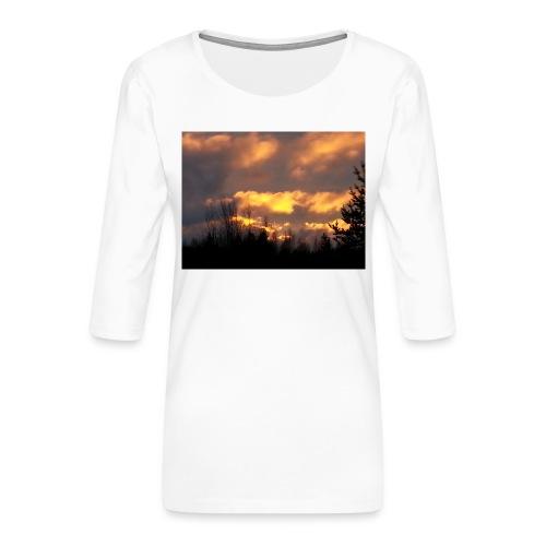 Iltarusko - Naisten premium 3/4-hihainen paita