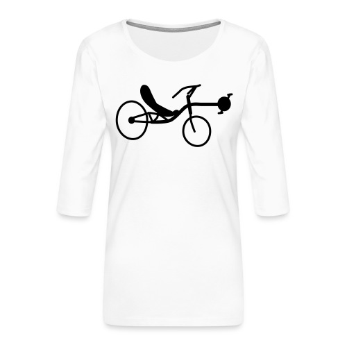 Liegerad Streetmachine 2 - Frauen Premium 3/4-Arm Shirt
