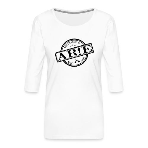 Backdrop AR E stempel zwart gif - Vrouwen premium shirt 3/4-mouw