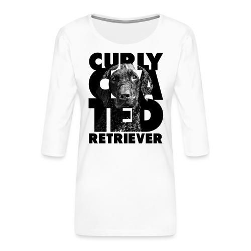 Curly Coated Retriever II - Naisten premium 3/4-hihainen paita