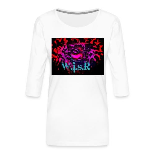 WisR Naisten T- Paita - Naisten premium 3/4-hihainen paita