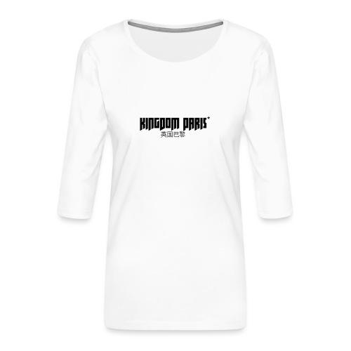 Logo_1 - T-shirt Premium manches 3/4 Femme