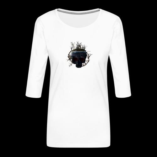 Tête de mort île - T-shirt Premium manches 3/4 Femme