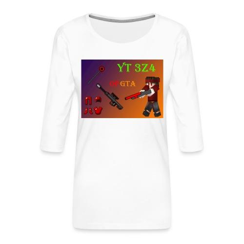 yt 3z4 - Naisten premium 3/4-hihainen paita