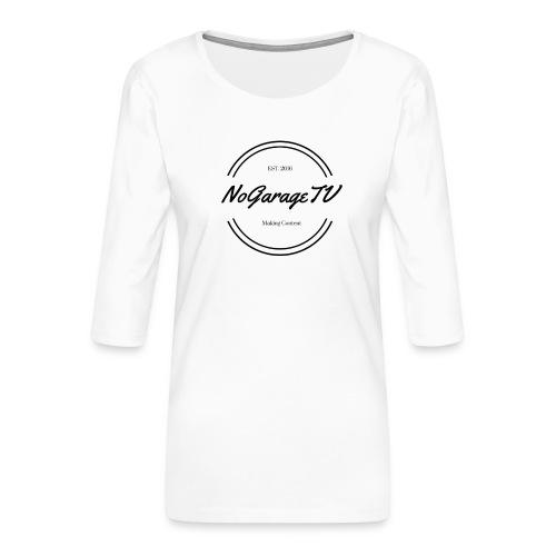 NoGarageTV (3) - Dame Premium shirt med 3/4-ærmer
