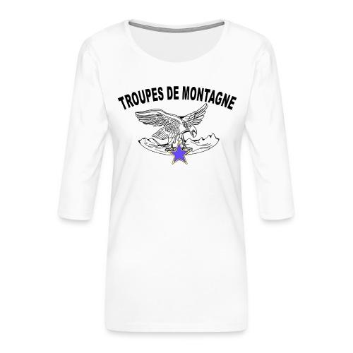 choucasTDM dos - T-shirt Premium manches 3/4 Femme